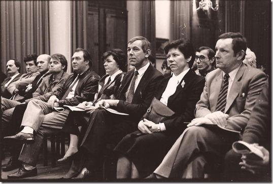Aanwezigen persprijsuitreiking 27 februari 1987, Dendermonds st
