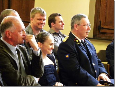 Persprijzen Hugo Aerts, voorzitter, Jullie Croket en brandweercommandant George De Smet