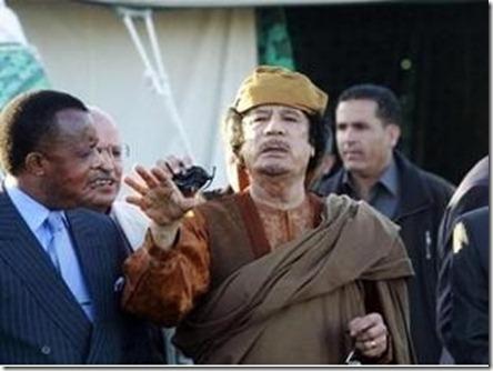 Sassou en Kaddafi