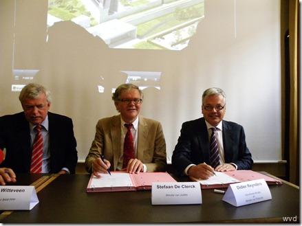 ondertekening akkoord voor bouw van nieuwe gevangenissen