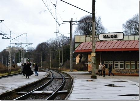 Spoorwegstation Majori in Jurmala, Letland
