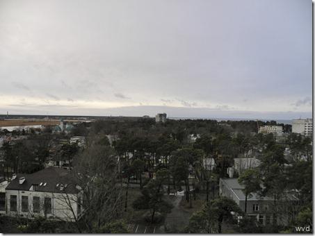 Panoramisch zicht van Jurmala, Letland