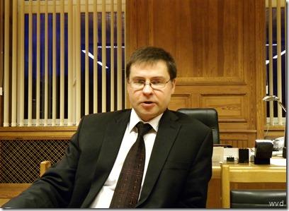 Premier Valdis Dombrovskis