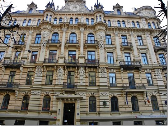 Gebouw van Mikhail Eisenstein aan de Albertlaan in Riga