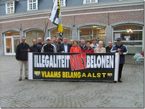 Vlaams Belang Aalst - anti-immigrantenactie - Oktober 2009 - 1