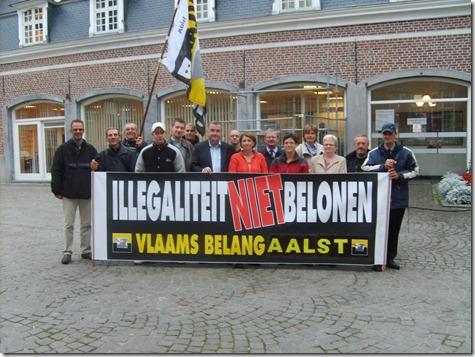 Vlaams Belang Aalst - anti-immigrantenactie - Oktober 2009 - 1