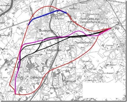 verschillende tracés N41