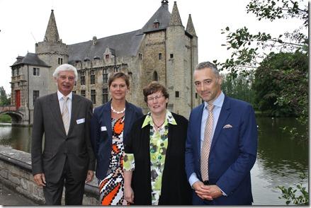 Hugo Casteleyn, Kristell Geltmeyer, Katrien Moens en Geert Moerman