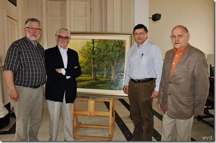 Dirk De Cock (links), Tuur de Rijbel, François Saeys en Isodoor Colson