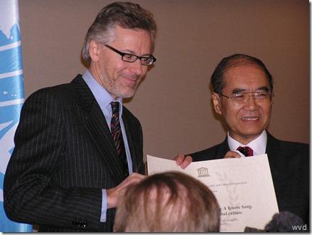 Unesco - Koïchiro Matsuura geeft oorkonde - 3