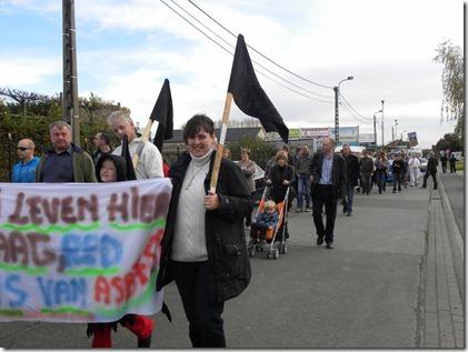 Betoging tegen Asbeco - Schoonaarde