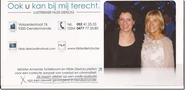 Hilde Dierickx en Annemie Turtelboom over gevangenis
