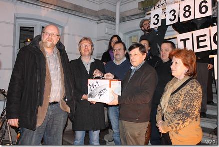 Protestactie Raldes tgen N41 in Lebbeke