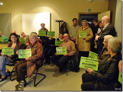 Protestactie ACW Baasrode rond Baasroods rusthuis