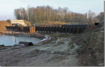Werken sluis Dender in Dendermonde