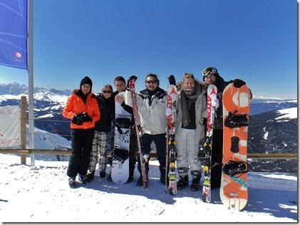 Natalie Opitz, Joeri Dockx met vriendin, Jozef Dockx, Sarah Dockx en Leon van Loon, zoon van Wout