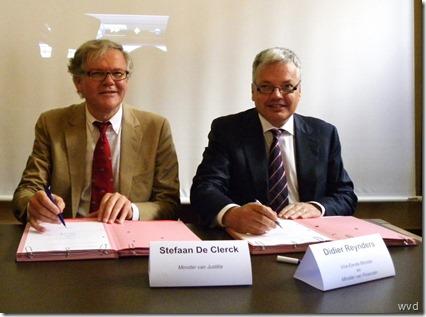Ondertekening contracten bouw gevangenissen Beveren en Dendermonde