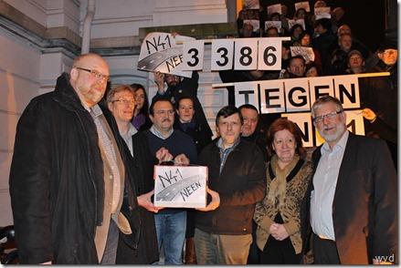 Actie tegen N41 in Lebbeke