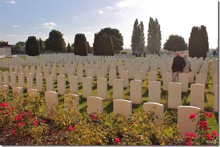 Tyne Cot, de militaire begraafplaats van het Britse Gemenebest in Passchendaele