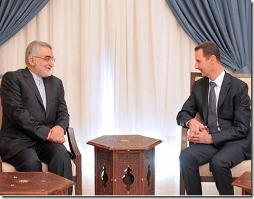 Bashar al Assad - In gesprek met Iraanse delegatie - Instagram