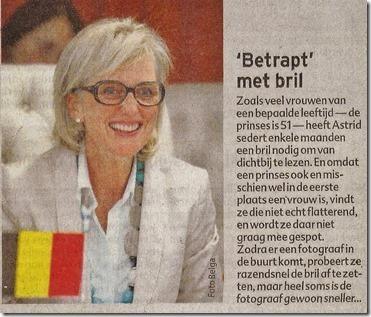 Prinses Astrid met leesbril - Het Laatste Nieuws - Het Nieuwsbl