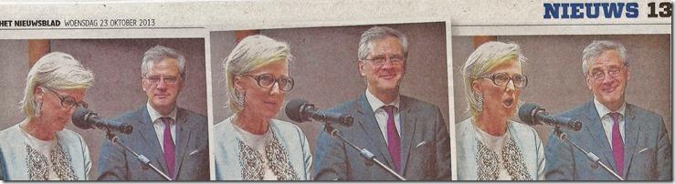Prinses Astrid met leesbril - Het Nieuwsblad - 22-10-2013-