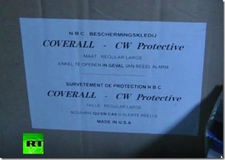 Beschermingspak chemische oorlogvoering - Augustus 2013 - Jobar