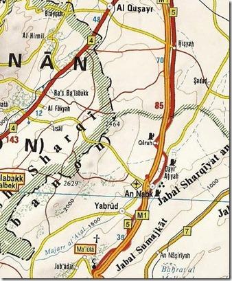 Syrië - Kaart - M5 - Qara-Yabroed