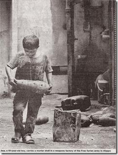 Syrië - Kinderarbeid munitiefabriek - The Times - 9 september 2