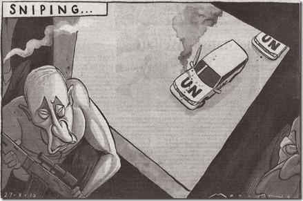 Syrië - The Times - 27 augustus 2013 - Poetin als sluipschutter