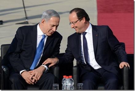 Benjamin Netanyahu en François Hollande - 1