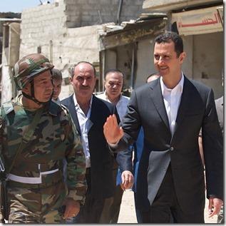 De Syrische president Bashar al Assad