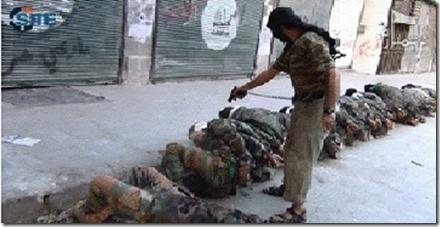 Jihadisten executeren tegenstanders