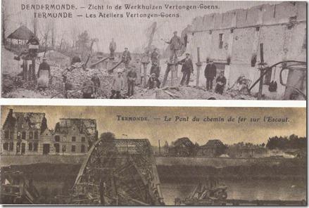 Vernielingen Dendermonde 4 september 1914 - Boekje Nele Cleempu