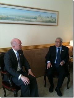William Hague - en Burhan Ghalioun, Voorzitter Syrische Nationale Raad