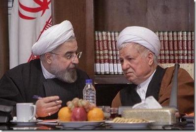 Hassan Rouhani en Ali Akbar Hashemi Rafsanjani
