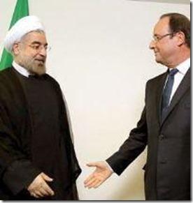 Hassan Rouhani en François Hollande