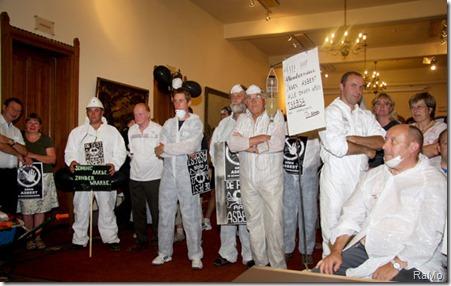 Protestactie GAS gemeenteraad