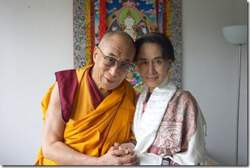 Dalai Lama en Aung San Suu Kyi