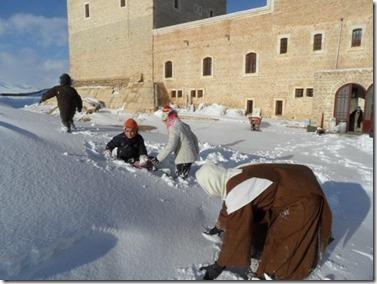 Klooster Dar Meir Yakub - Qara - Sneeuwpret