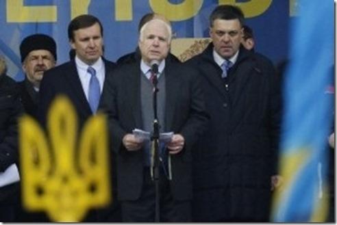 Oleh Tyahnybok met John McCain