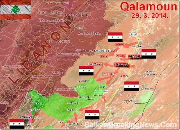 Qalamoengebergte - Syrië - Militaire toestand van 29 maart 2014