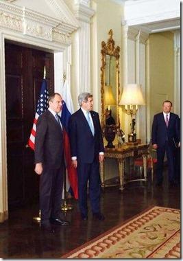 Sergeï Lavrov en John Kerry - Londen - 14-03-2014 - 2