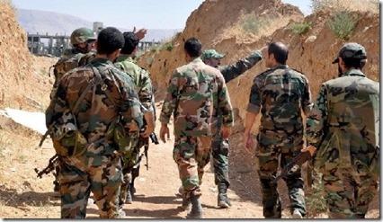 Soldaten regringsleger - Yabroud - Februari 2014