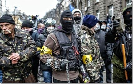 Svoboda - Betogers in Kiev - Februari 2014