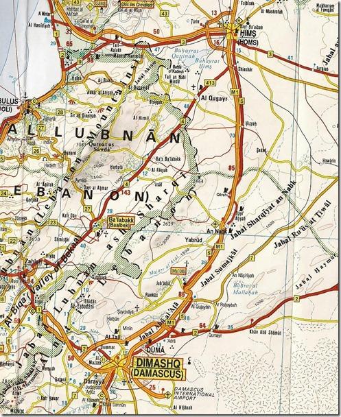 Syrië - Kaart - M5 - Damascus-Homs (3)