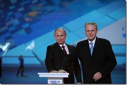 Vladimir Poetin en Rogge, IOC - Sochi Winterspelen