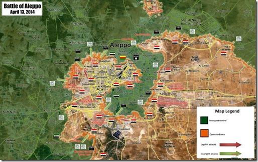 Aleppo - Militaire situatie 13 April 2014