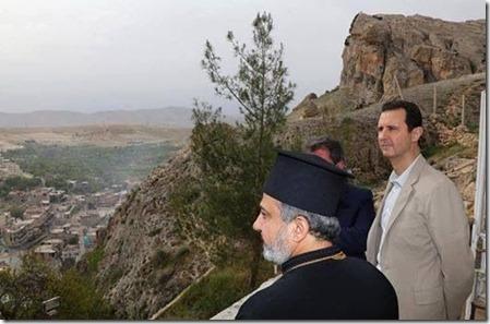 Maaloela - bezoek Bashar al Assad - 20-04-2014