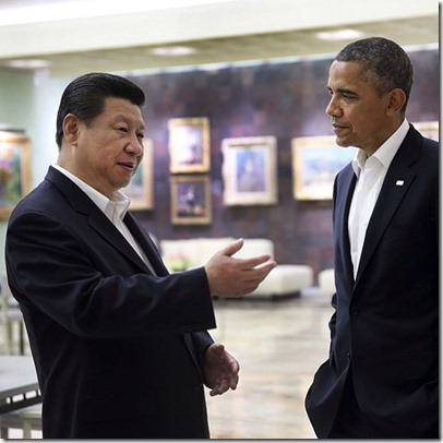 Xi Jinping en Barack Obama